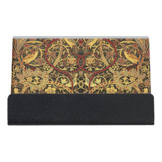 Caja Para Tarjetas De Visita Arte floral de la tapicería de William Morris