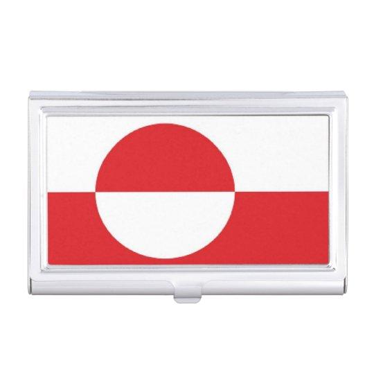 Caja Para Tarjetas De Visita Bandera de Groenlandia