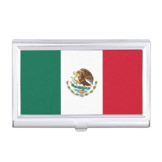 Caja Para Tarjetas De Visita Bandera mexicana patriótica