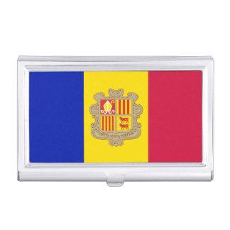 Caja Para Tarjetas De Visita Bandera patriótica de Andorra