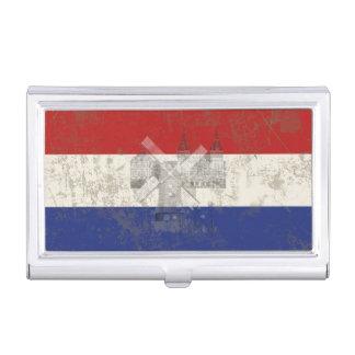 Caja Para Tarjetas De Visita Bandera y símbolos de los Países Bajos ID151