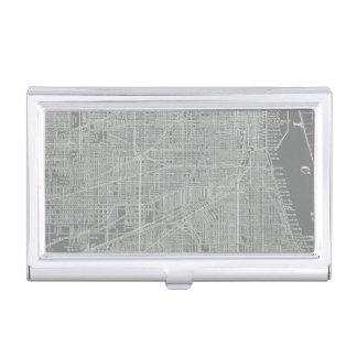 Caja Para Tarjetas De Visita Bosquejo del mapa de la ciudad de Chicago