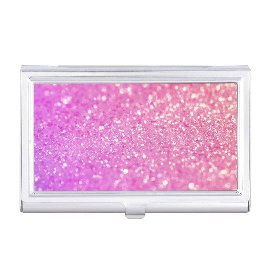 Caja Para Tarjetas De Visita Brillo rosado del diamante