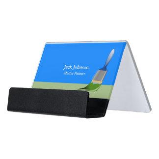 Caja Para Tarjetas De Visita Brocha de la pintura del pintor