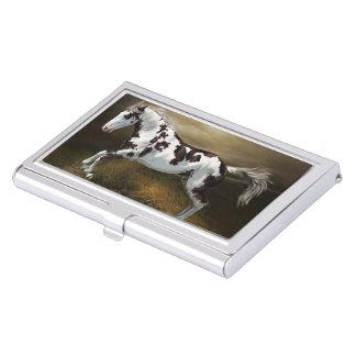 Caja Para Tarjetas De Visita Caballo de la pintura de Tovero del marco del