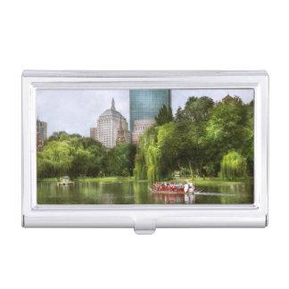 Caja Para Tarjetas De Visita Ciudad - Boston mA - jardín público de Boston