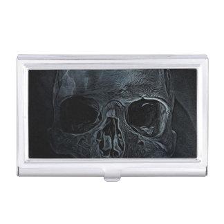 Caja Para Tarjetas De Visita Cráneo esquelético médico gótico de la radiografía