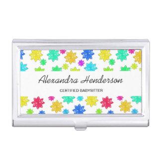 Caja Para Tarjetas De Visita Cuidado de niños lindo y colorido de la nin@era de
