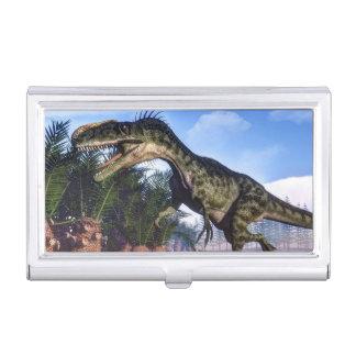 Caja Para Tarjetas De Visita Dinosaurio del Monolophosaurus - 3D rinden