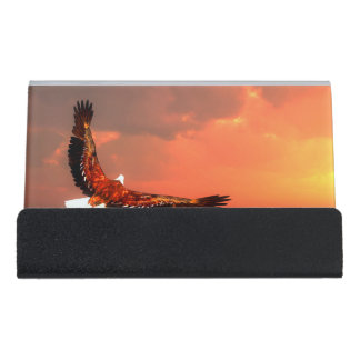 Caja Para Tarjetas De Visita Eagle que vuela al sol - 3D rinden