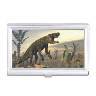 Caja Para Tarjetas De Visita El dinosaurio -3D de Batrachotomus rinde