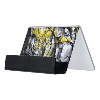 Caja Para Tarjetas De Visita El gris cubierto de musgo oscila la foto