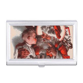 Caja Para Tarjetas De Visita El revestimiento de Santa