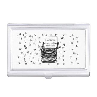 Caja Para Tarjetas De Visita Es un bosquejo lindo de la máquina de escribir del