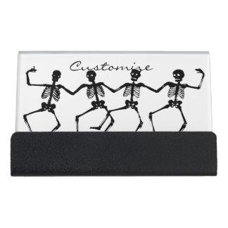 Caja Para Tarjetas De Visita Esqueletos Halloween Thunder_Cove del baile