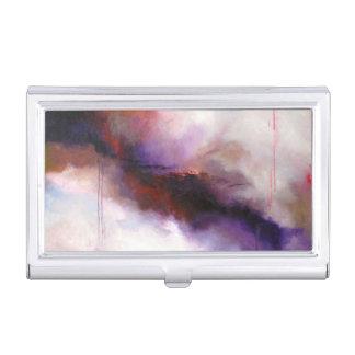 Caja Para Tarjetas De Visita Extracto moderno de color morado oscuro