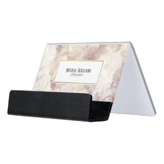 Caja Para Tarjetas De Visita Falso tenedor de la tarjeta de visita del mármol