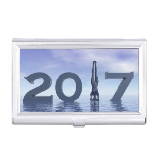 Caja Para Tarjetas De Visita Feliz Año Nuevo 2017 del zen - 3D rinden