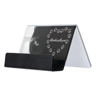 Caja Para Tarjetas De Visita Foto del corazón de la impresión de la pata del