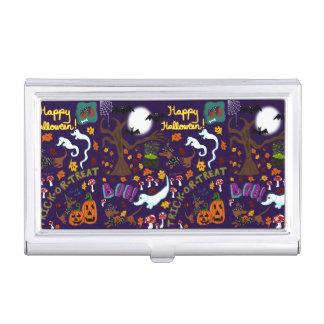 Caja Para Tarjetas De Visita Halloween del Dachshund de la diva