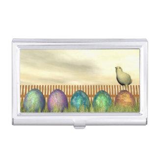 Caja Para Tarjetas De Visita Huevos coloridos para pascua - 3D rinden