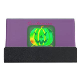 Caja Para Tarjetas De Visita Jack verde Halloween o'lantern Thunder_Cove
