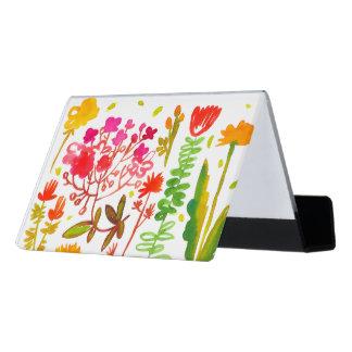 Caja Para Tarjetas De Visita la acuarela florece el tenedor de la tarjeta de