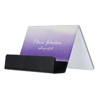 Caja Para Tarjetas De Visita Lavanda de la acuarela del artista de maquillaje