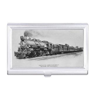 Caja Para Tarjetas De Visita Locomotora pacífica del carril de Baltimore y de