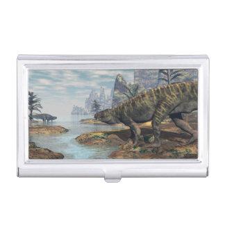 Caja Para Tarjetas De Visita Los dinosaurios -3D de Batrachotomus rinden