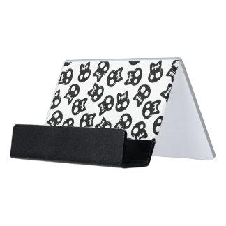 Caja Para Tarjetas De Visita Modelo cómico del negro del cráneo