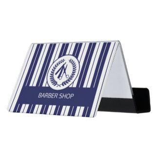 Caja Para Tarjetas De Visita Moderno rayado blanco de la marina de guerra del