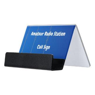 Caja Para Tarjetas De Visita Muestra aficionada de la antena de haz y de la