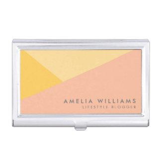 Caja Para Tarjetas De Visita Naranja en colores pastel y melocotón del bloque