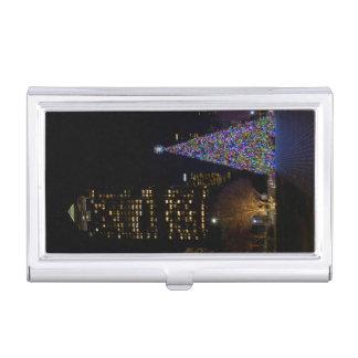 Caja Para Tarjetas De Visita Navidad en la noche del parque de Warren