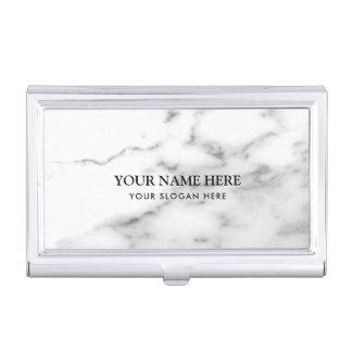 Caja Para Tarjetas De Visita Nombre de compañía de piedra de mármol blanco