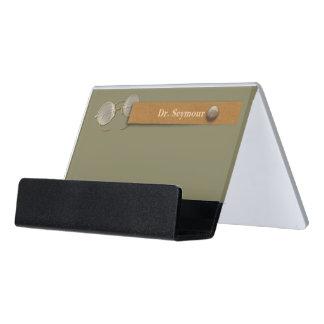 Caja Para Tarjetas De Visita Oftalmólogo, optometrista, bordes del alambre del