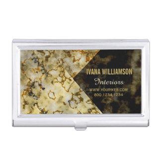 Caja Para Tarjetas De Visita Oro agrietado Marbleized lujoso exclusivo