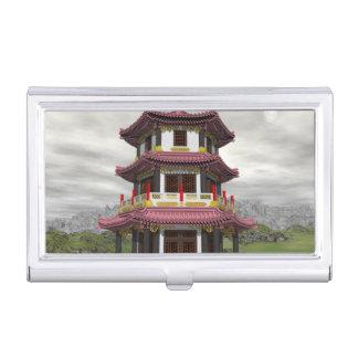 Caja Para Tarjetas De Visita Pagoda en naturaleza - 3D rinden
