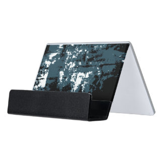 Caja Para Tarjetas De Visita Paisaje multidimensional azul abstracto