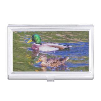 Caja Para Tarjetas De Visita Patos del pato silvestre