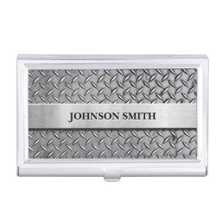 Caja Para Tarjetas De Visita Placa de metal fresca y elegante del diamante