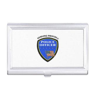 Caja Para Tarjetas De Visita Policía que sirve orgulloso
