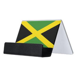Caja Para Tarjetas De Visita Portatarjetas con la bandera de Jamaica