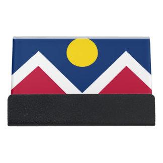 Caja Para Tarjetas De Visita Portatarjetas con la bandera de la ciudad de