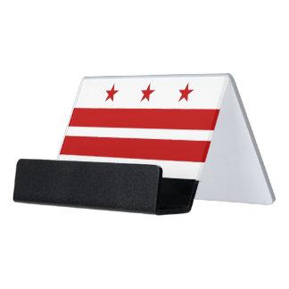 Caja Para Tarjetas De Visita Portatarjetas con la bandera del Washington DC,