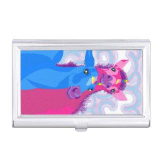 Caja Para Tarjetas De Visita Portatarjetas de los unicornios del bebé