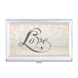 Caja Para Tarjetas De Visita Reluciente-Amor elegante elegante moderno