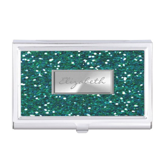 Caja Para Tarjetas De Visita Reluciente femenino elegante elegante moderno
