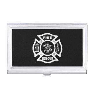 Caja Para Tarjetas De Visita Rescate del bombero